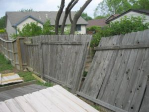 Storm Damage - Fence Repair
